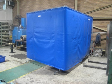 Soundproof barriers to intrusive industrial machines and equipment