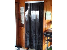 Flexible Transparent Black Strip Curtain