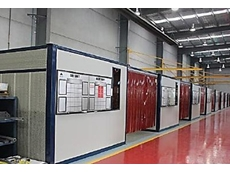 Soundproof welding and grinding bays