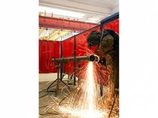 Weldflex strip curtains for welding bays