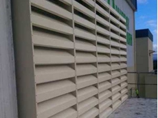 Flexshield's sonic louvres combine noise reduction and ventilation with superior aesthetics