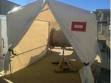 Flexshield supplied 5 welding tents to a pipe welding contractor