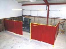 Welding bays and screens from Flexshield