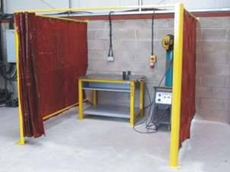 Welding bays and work shop partitions by Flexshield