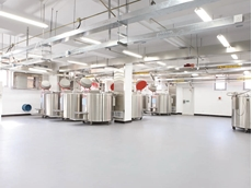 Flowcrete installed Flowshield SL with a top coat of Flowseal UV in the hospital's liquid nitrogen storeroom