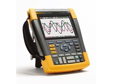 Fluke ScopeMeter 190 Series II portable oscilloscopes are designed for use in industrial environments