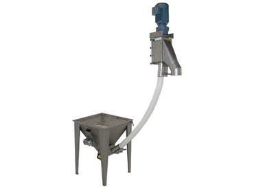 Fresco Flexible Screw Conveyors incorporate counter weighted base frames that provide stability when moving