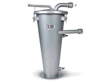 The high quality manufacture of the Cyclone reduces turbulence during operation and increases the efficiency of the unit