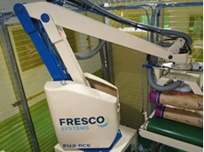 Fresco's two line robotic depalletiser