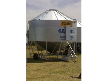 Cereal Crop Field Bins from G.E. Silos