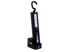 HEMIPLUS cordless worklight in a charging station