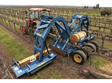 Three row vineyard mower a world first