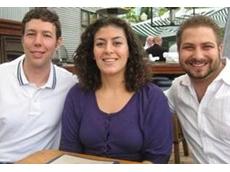 Gekko Systems Canadian team (L-R): Adam Hesse, Vice President, Latifa Mousli, Office Administrator, and Ben Adaszynksi, Process Metallurgist