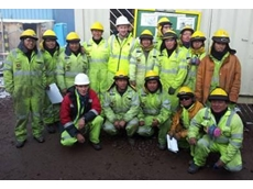 Gekko's Roberto Fueyo (front row, left) and Paul Meyer (middle, back row) on-site at Ares