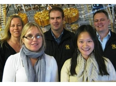Perth staff, from back row, Debbie Stephenson, Tim Bell and Peter Henderson. Front, Michelle Helm and Lisa Lim