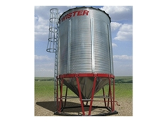 Cone Bottom Silos can easily be relocated for convenience
