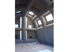 Big inflatable blast shelters reducing turbine maintenance costs