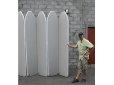 Inflatable products from 1300 INFLATE include this inflatable panel wall