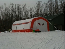 Ski resorts need industry standard portable shelters such as the EzY Shelter to preserve their freshly manufactured snow