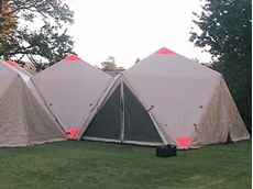 New XBeam inflatable shelters for emergency, first response and remote sites