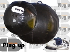 Plug-Up isolation plugs preventing contamination in pipes