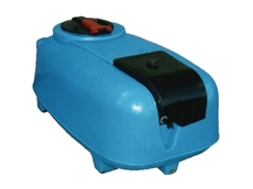 Low profile water cartage tanks and sprayers