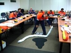 A training session taking place with ​Spill Response and Training Services by Global Spill