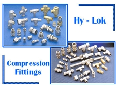 Hy-Lok range of compression fittings available from Global Valves and Engineering