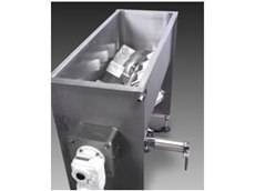 Paddle mixer feed system