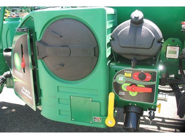 Features a highly chemical resistant polyethylene tank