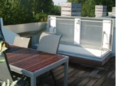 Glazed roof hatches with Lexan glass