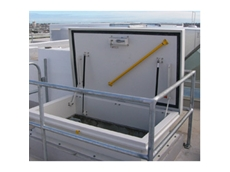 Provides access to flat roof spaces