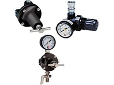 Air regulators for precise spray gun control