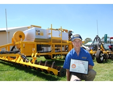 Dave Grayling with the Graytill GT 100 Series air seeder
