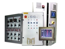 The advanced control systems feature AEG thyristor power controllers with PLC and operator touch screen interface