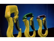 The RH sling hook -- colour coded for capacity rating.
