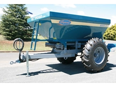 Belt spreaders for spreading lime, fertiliser and granular products