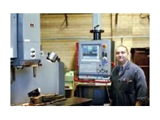 Roy Milan with his Kasuga machining centre.