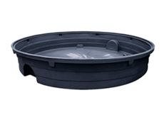 Circular polyethylene bunding is ideal for small drums