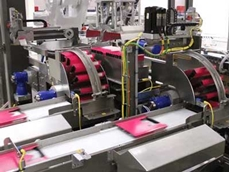 The new packaging line consists of two SW702 wraparound sleevers and an MX1200 robotic top load case packer