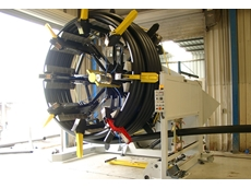 Graewe's winding machine for pipe coiling