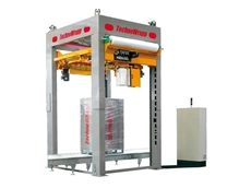 A800 TechnoWrapp pallet stretch wrapping machine with integrated top sheet applicator