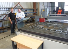 Heath Oxley, owner of Ox Engineering, is excited about business prospects with the new Haco CNC plasma cutting machine