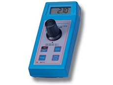 The Hanna line includes colorimetric chemical test kits, measuring both free and total chlorine.