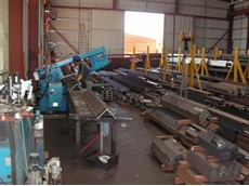 Ocean Avenger Beam Line Machine at Allcon Steel Construction