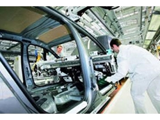 Assembly of a Passat in a VW factory