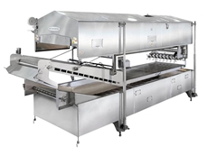 MasterTherm batch fryer shown with hood in the open position
