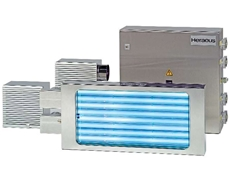 Complete BlueLight system with air fans, power supply and UV cassette