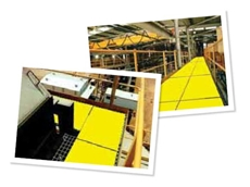 Hi-Vis anti-slip metal plating is designed for walkways subject to slippery, oily and dirty conditions