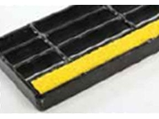 Hi-Vis anti slip stair inserts are specially fabricated to fit between grated stair tread load bars